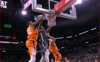 "Įspūdingas ""Spurs"" lyderio D.DeRozano skrydis - NBA Top 10 viršūnėje"