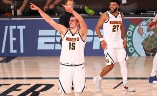 """Jokičius su kovingaisiais """"Nuggets"""" sukūrė dar vieną stebuklą – prasibrovė į NBA konferencijos finalą"""