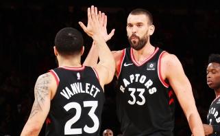 """Šeši """"Raptors"""" žaidėjai pralaimėtame mače kartu pelnė 13 taškų"""