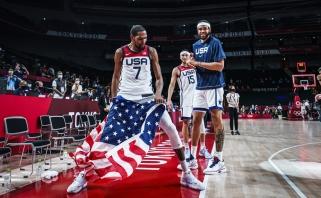 Prancūzų šturmą atlaikę JAV krepšininkai - ketvirtąkart iš eilės olimpiniai čempionai