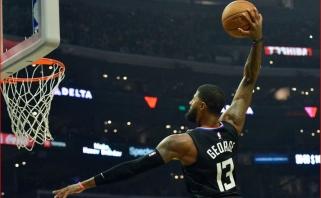 """""""Clippers"""" sukirto rankomis su P.George'u dėl kosminio kontrakto"""