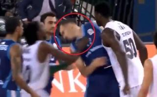 Eurolygos žaidėjo smurto proveržis: vieną krepšininką apstumdė, kitą pasiuntė  į nokdauną