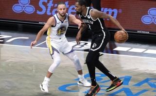"""NBA sezonas startavo triuškinama """"Nets"""" pergale prieš beviltiškai atrodžiusius """"Warriors"""""""