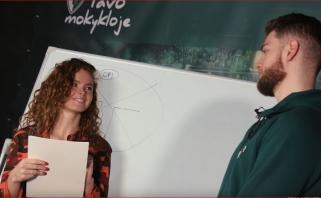 Į mokyklą grįžusiam žalgiriečiui M.Gebenui teko atlikti D.Belickaitės užduotis