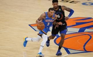 """""""Clippers"""" nusitaikė į solidžiai rungtyniaujantį """"Thunder"""" įžaidėją"""