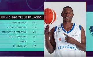 J.Palaciosas - LKL savaitės MVP, penketuke - elitinių komandų jaunimas