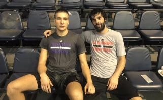Pirmąkart susitiko draugai rinktinėje ir naujokai NBA M.Teodosičius ir B.Bogdanovičius