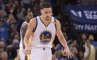 NBA: K.Thompsonas pelnė 60 taškų, J.Hardenas vos neprisidirbo (rezultatai)
