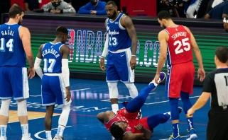"""Dončičiaus metimų krušą atlaikę """"Jazz"""" tapo NBA lyderiais, LeBronas traumavo Embiidą"""