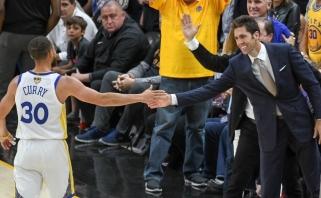"""""""Warriors"""" vadovas: kalbų apie Curry išėjimą bus visada"""