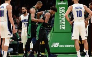 """Smūgis """"Celtics"""": prieš mūšius su """"Pacers"""" gynybos specialistui M.Smartui plyšo raumuo"""