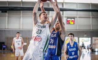 Europos čempionate U 16 rinktinė įveikė Izraelio krepšininkus