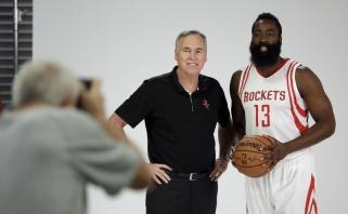 """M.D'Antoni patvirtino - pagrindiniu """"Rockets"""" įžaidėju bus J.Hardenas"""