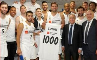 """1000-ajame F.Reyeso mače """"Real"""" ir antrą kartą įveikė Europos taurės laimėtojus"""