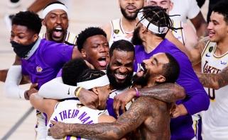 """Lakers"" su karaliumi L.Jamesu - NBA čempionai"