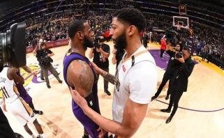 """""""Pelicans"""" gali atidėti A.Daviso išmainymą, kad """"Lakers"""" turėtų 32,5 mln. laisviesiems agentams"""