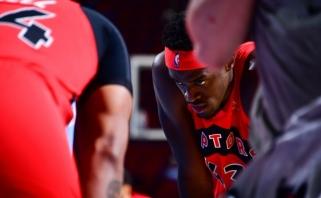 """""""Raptors"""" savo žvaigždei Siakamui skyrė baudą už trenerio įžeidimą"""