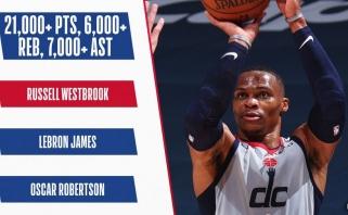 Westbrookas pakartojo Robertsono bei LeBrono pasiekimą