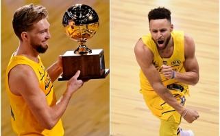 Sabonis ir Curry dramatiškai įrodė savo meistriškumą NBA įgūdžių ir tritaškių konkursuose