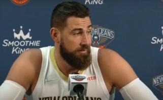 """Pirmą kartą su """"Pelicans"""" apranga pasirodęs Valančiūnas: aš pasirengęs būti pavyzdžiu"""
