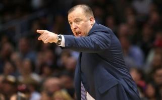 """Vertingiausią NBA klubą """"Knicks"""" į pergalių kelią bandys grąžinti T.Thibodeau"""