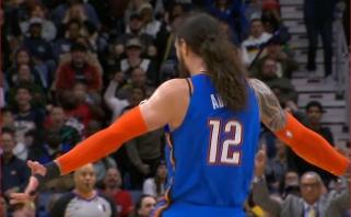 Kurioziškas S.Adamso metimas - gražiausias NBA nakties momentas