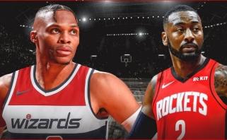 """Grandioziniai mainai: Westbrookas - į """"Wizards"""", Wallas"""" - į """"Rockets"""""""