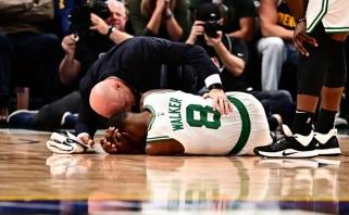 """""""Spurs"""" užfiksavo rekordinę nesėkmių seriją, """"Celtics"""" lyderis buvo išneštas ant neštuvų"""