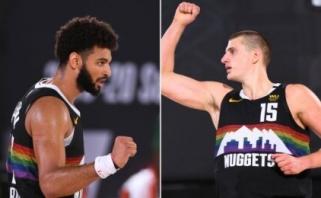 """Kanados ir Serbijos žvaigždės pratęsė ant bedugnės krašto atsidūrusių """"Nuggets"""" sezoną"""