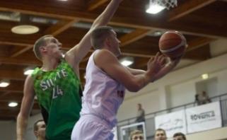 """NKL savaitės MVP ir """"Šilutės"""" lyderis A.Pukelis džiaugiasi darbu su buvusiu rinktinės treneriu"""