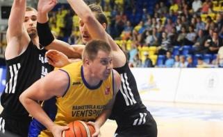 """Latvijoje triumfavo """"Ventspils"""" su puikiai pasirodžiusiu J.Juciku"""