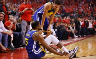 """Su ašaromis akyse kalbėjęs """"Warriors"""" vadovas atskleidė - K.Durantas patyrė Achilo sausgyslės traumą"""