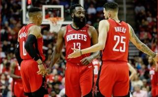"""Nekokie """"Rockets"""" reikalai: Westbrookas prašo mainų, trys žaidėjai nepatenkinti vaidmeniu"""