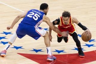 """Trileryje Filadelfijoje triumfavo 26 taškų deficitą panaikinę """"Hawks""""; Jutoje laimėjo """"Clippers"""""""