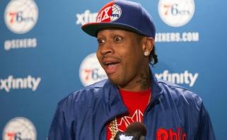 """A.Iversonas: """"Sixers"""" šį sezoną gali tapti čempionais, reikia tik išvengti traumų"""