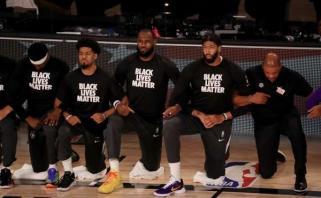 D.Trumpas apie priklaupimą prieš NBA rungtynes: tai yra gėdinga, išjungiu televizorių