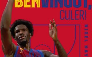 """""""Barcelona"""" paskelbė: buvęs vienas """"Žalgirio"""" lyderių Hayesas grįžta pas Šarą"""