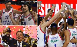 """Eurolygos dūzgės: Atamaną užklupo skambutis """"raudonąja linija"""", MVP uždainavo serbiškai"""