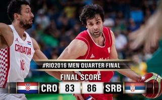 Dramatišką Balkanų mūšį laimėjusi Serbijos rinktinė - pusfinalyje