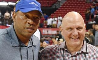 """D.Riversas: pasakiau S.Ballmeriui, kad jei K.Leonardas pereis į """"Lakers"""", mes keliamės į Sietlą"""