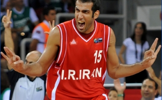 H.Haddadi vedami Irano krepšininkai iškovojo pirmąją pergalę