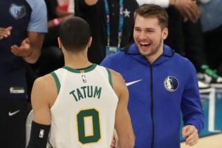 Trigubo dublio vidurkį turėjęs L.Dončičius bei J.Tatumas - NBA savaitės žaidėjai