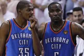 """Perkinsas: Durantas paliko """"Thunder"""", nes klubas bandė pamėgdžioti """"Spurs"""""""