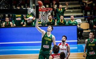 Lietuviai Europos čempionate tiesiog sumindė turkus ir iškovojo antrą pergalę