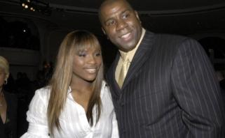 """Milžiniškus pinigus """"Lakers"""" uždirbdavęs M.Johnsonas gali dirbti su teniso žvaigžde S.Williams"""