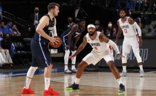 """""""Clippers"""" pristabdė """"Mavs"""" žygį, Tatumas nustelbė """"Nets"""" žvaigždes, """"Hawks"""" įveikė """"Knicks"""""""