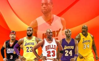 """""""Heat"""" legenda D.Wade'as įvardijo savo visų laikų geriausiųjų penketą"""
