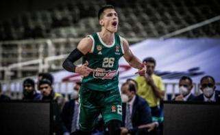 """N.Nedovičiaus karjeros rungtynės nepadėjo """"Panathinaikos"""" laimėti Tel Avive"""