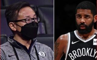 """Kinas """"Nets"""" savininkas pasisakė apie skiepytis atsisakantį Irvingą"""