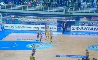 Beprotybė Graikijoje: po diskvalifikacijų mačą baigė žaisdami trise prieš du